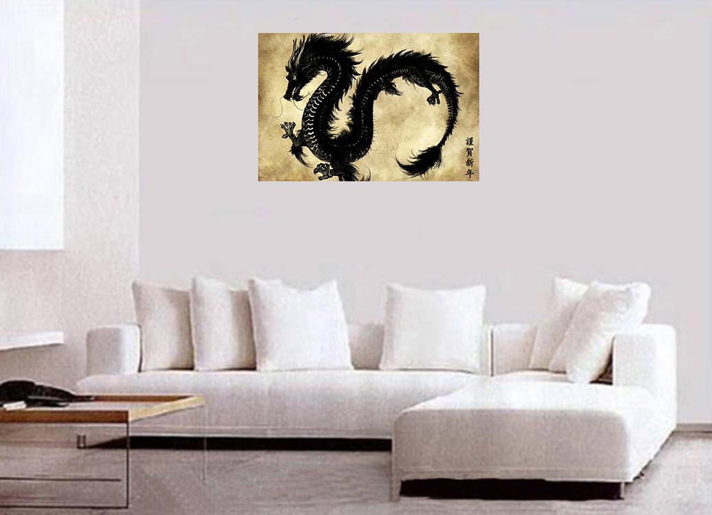 Oriental Dragon Painting Chinese Dragon Art Asian Art Giclee Fine Art Canvas