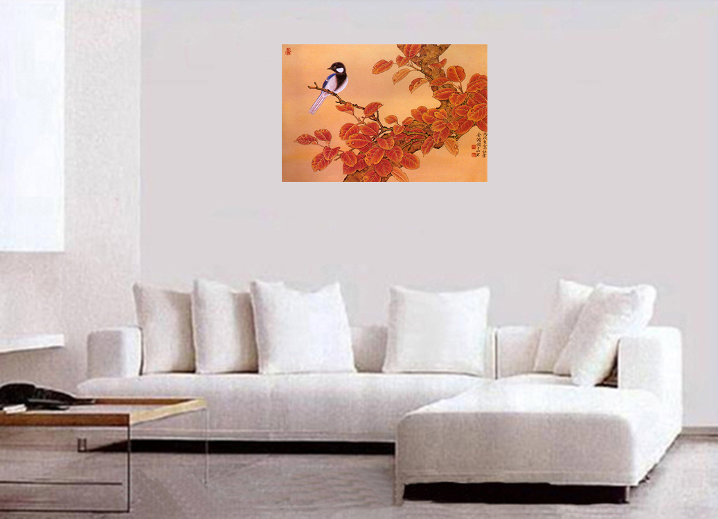 Chinese Feng Shui Painting Canvas Wall Art Prints Flower Decor