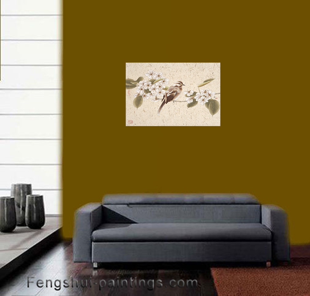 Chinese Feng Shui Painting Canvas Wall Art Asian Wall Decor