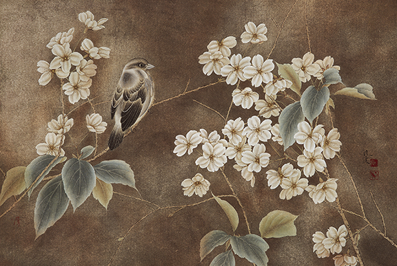chinese flower paintings