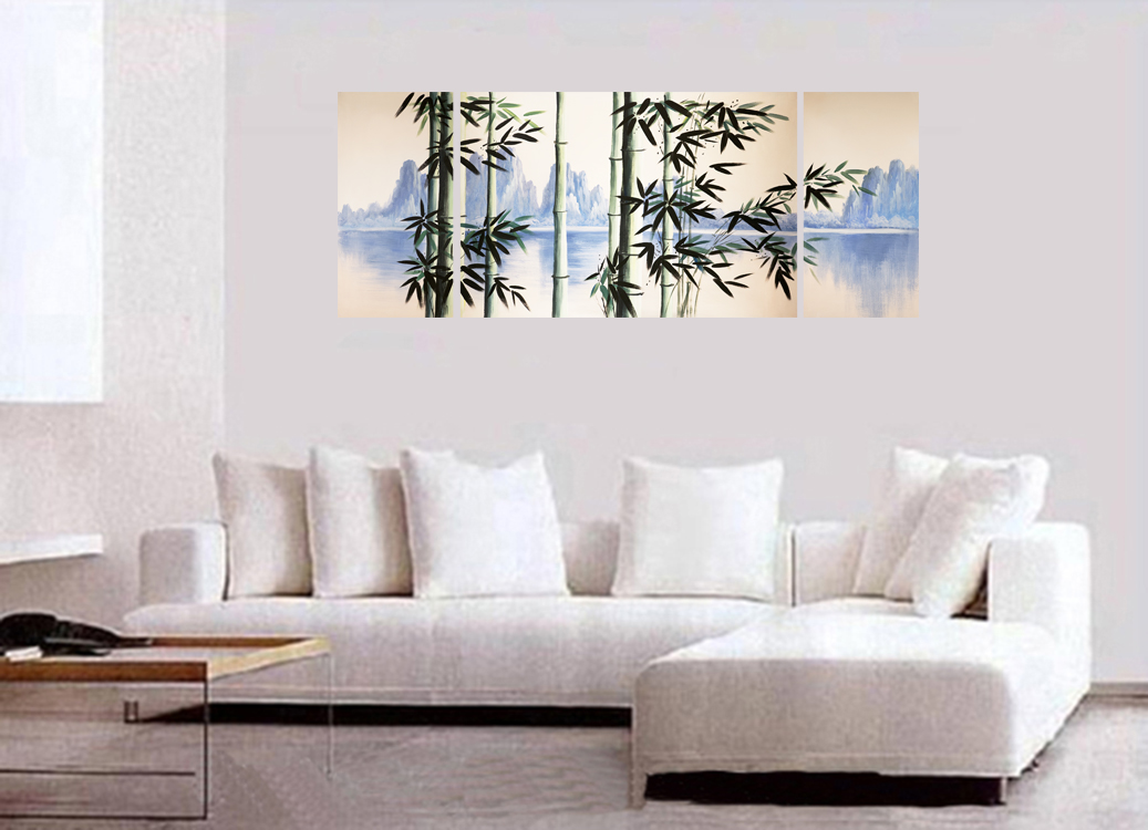 Modern Paintings Original Paintings on Canvas Bamboo Painting