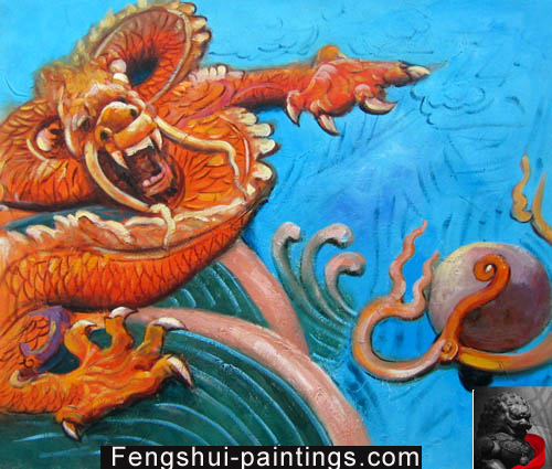 feng shui dragon painting chinese feng shui dragon