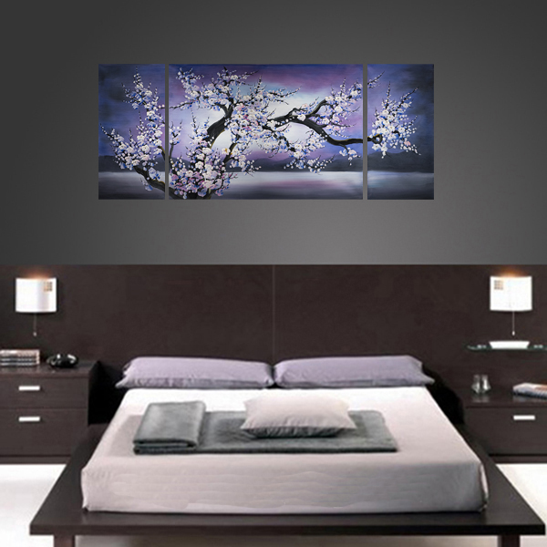 Cherry Blossom Painting Modern Contemporary Abstract Art on Canvas