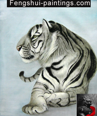 tiger feng shui paintings