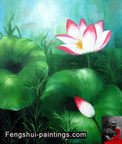 Chinese lotus flower painting feng shui painting chinese lotus flower painting feng shui painting mightylinksfo
