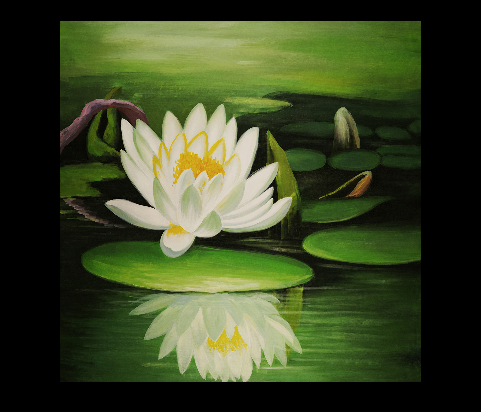 Abstract Lotus Flower Painting
