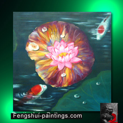 Chinese lotus flower painting feng shui painting chinese lotus flower painting feng shui painting mightylinksfo Image collections