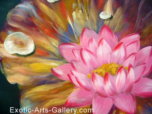 Chinese lotus flower painting feng shui painting chinese flower painting mightylinksfo Image collections