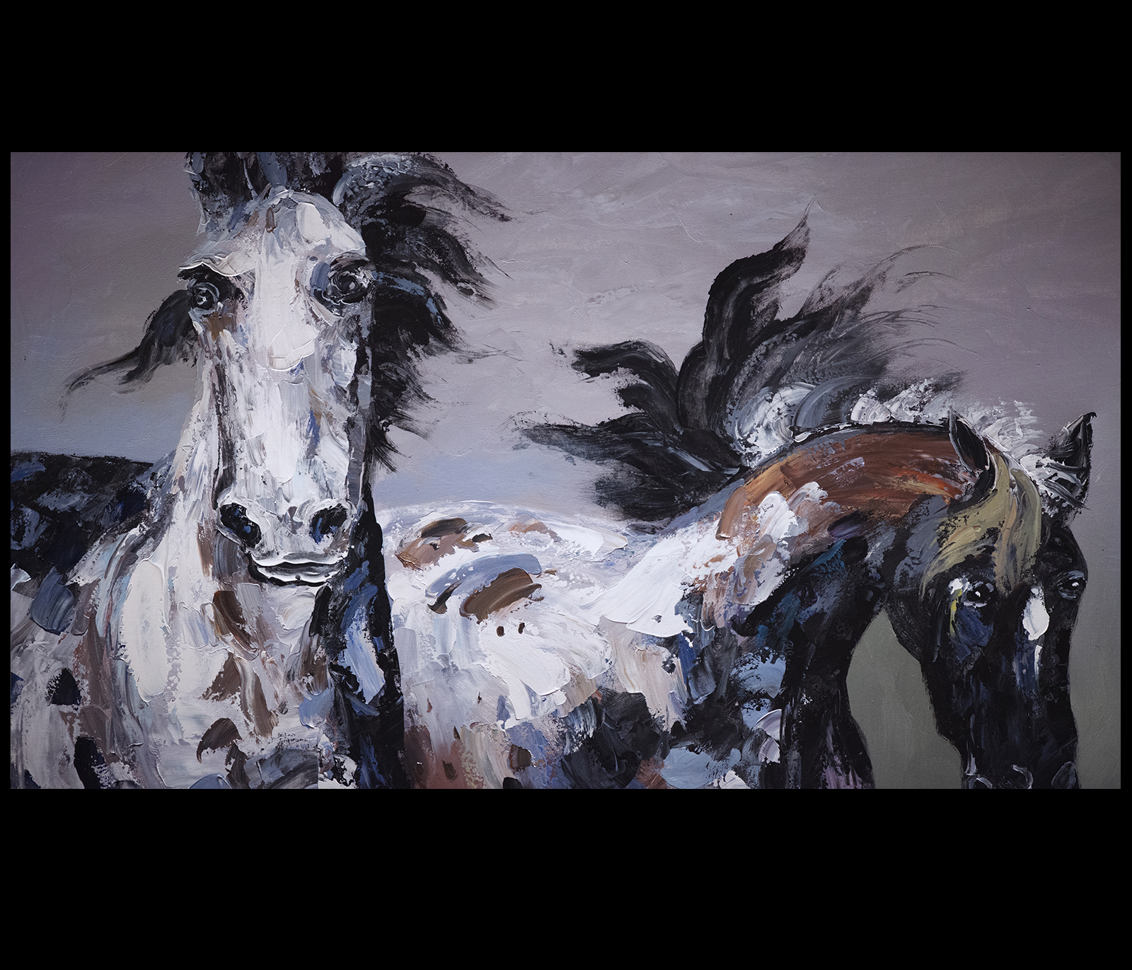 Horse painting canvas prints contemporary art modern wall for Contemporary mural art