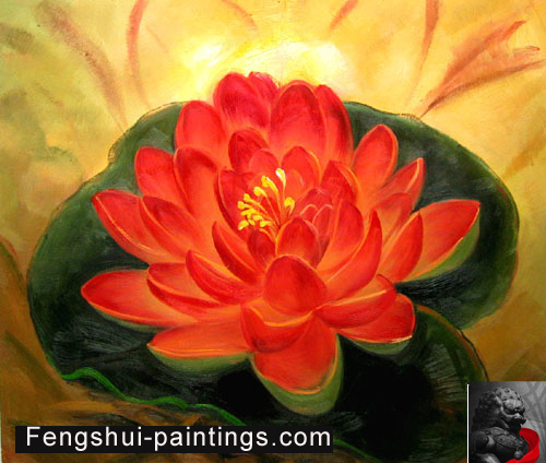 Chinese Lotus Flower Painting Feng Shui Painting