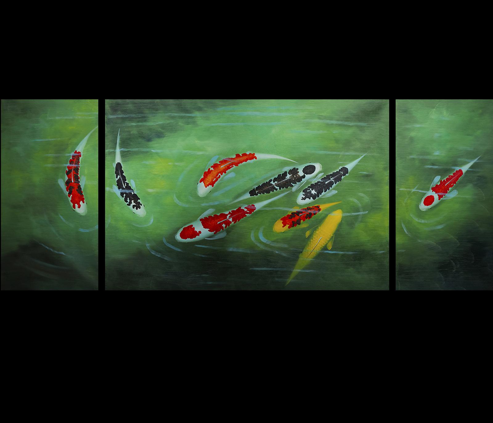 Koi fish painting koi painting fish painting wall art d cor for Koi wall art