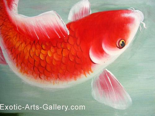Koi painting koi fish painting feng shui fish painting for Koi fish culture