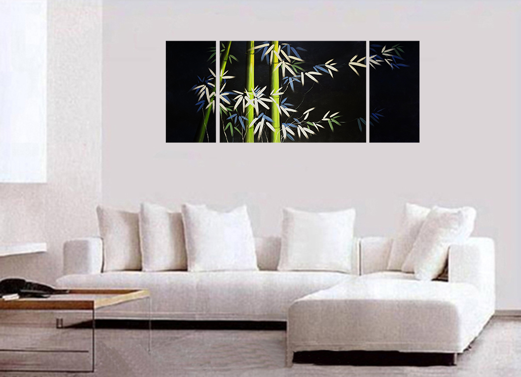 Canvas Art Landscape Canvas Prints Bamboo Painting Asian Decor Wall Art