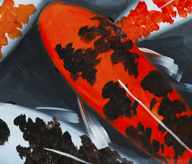 Japanese koi fish painting for Japanese koi