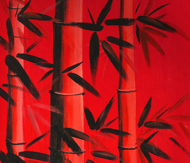 Feng Shui Bamboo Painting