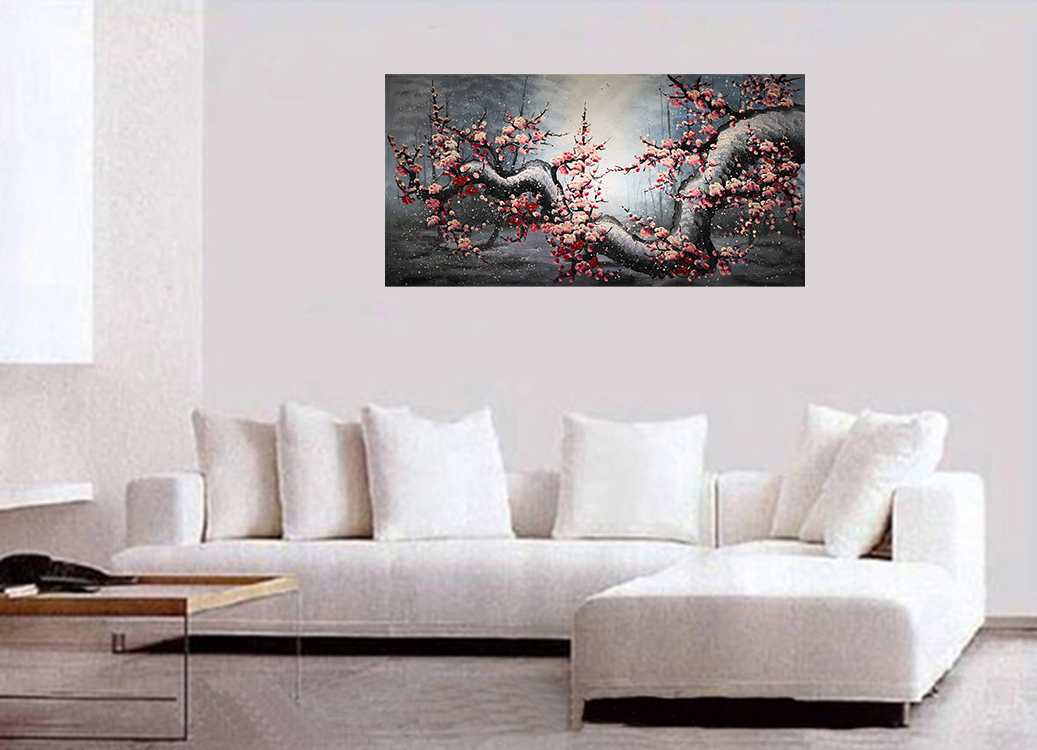 Canvas Wall Art Contemporary Art Cherry Blossom Painting
