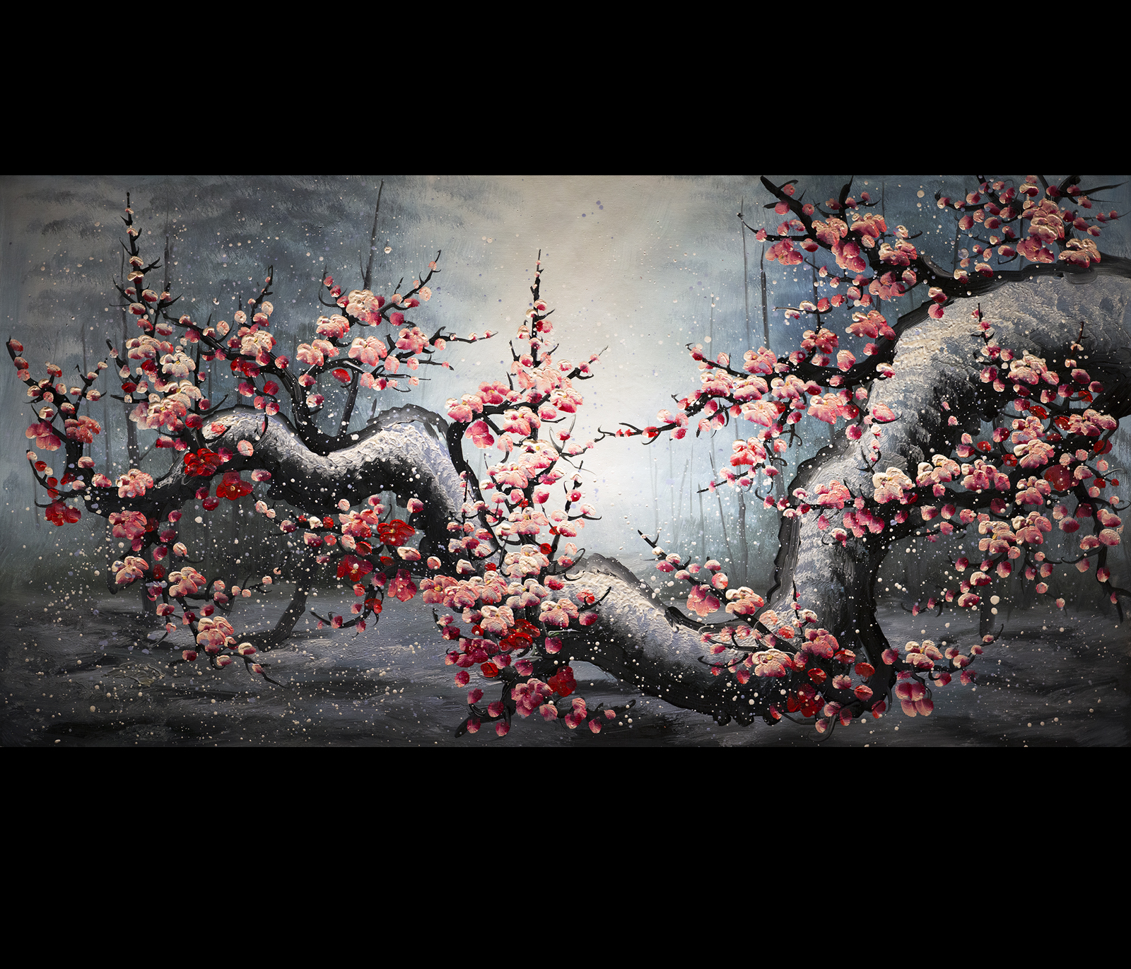 Cherry blossom painting for Canvas painting of cherry blossoms