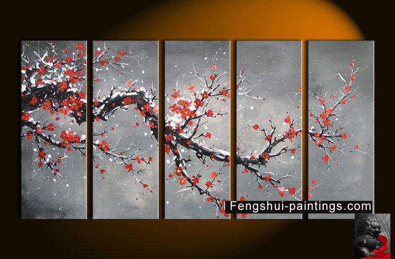 Chinese abstract art chinese cherry blossom painting for Cherry blossom mural works