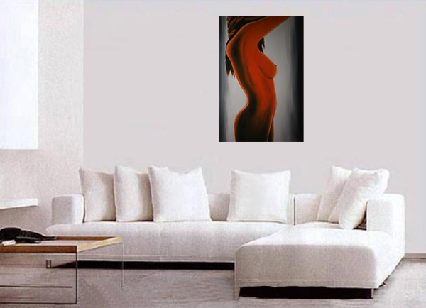 Nude Painting Framed Canvas Wall Art Modern Contemporary Abstract Art