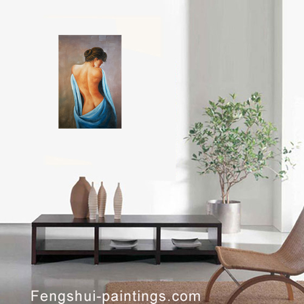 Nude Painting Framed Canvas Wall Art Modern Abstract Art