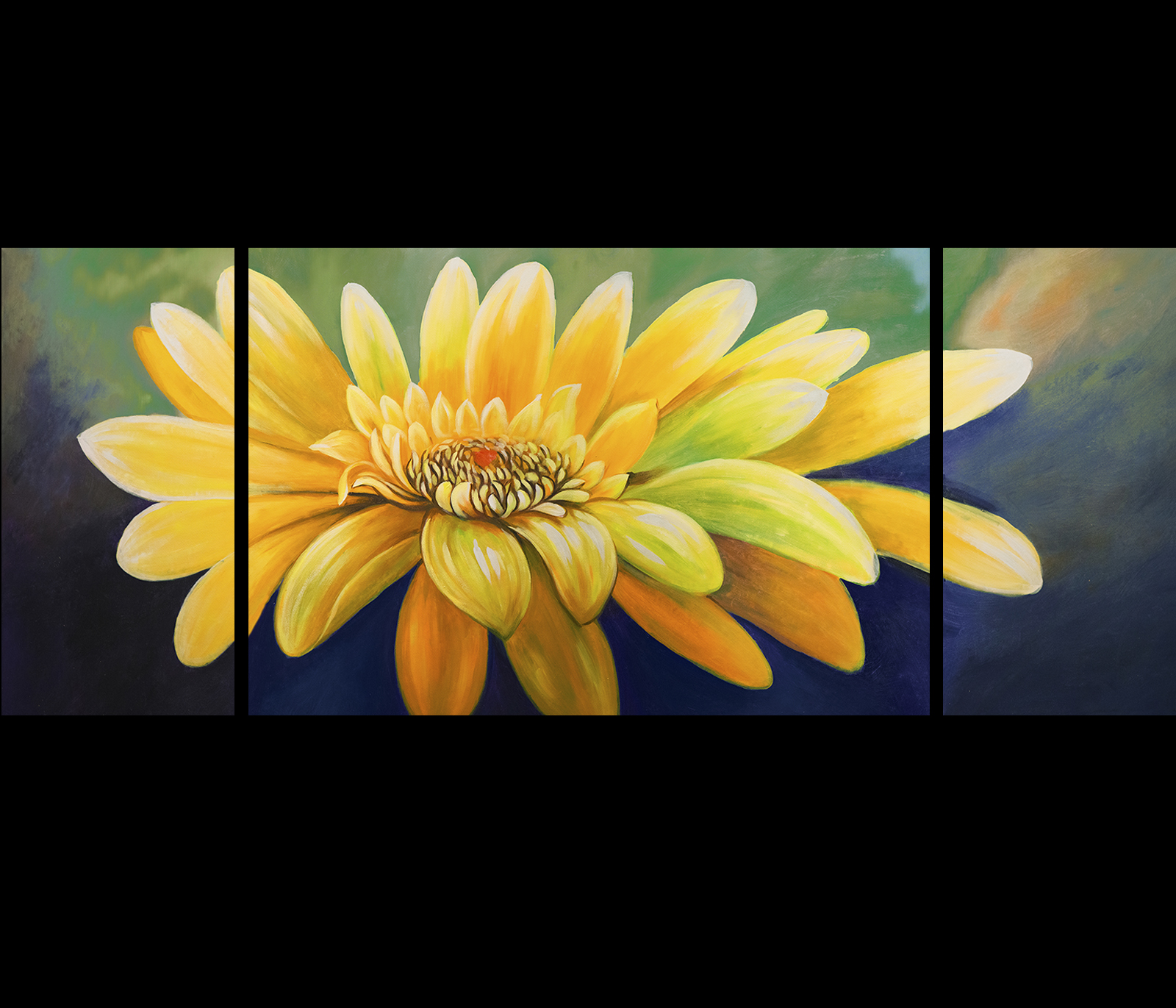 Abstract Flower Painting Sunflower Painting Modern Wall Art Decor