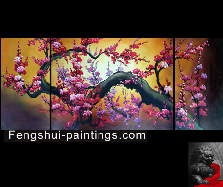 Chinese cherry blossom painting for Canvas painting of cherry blossoms