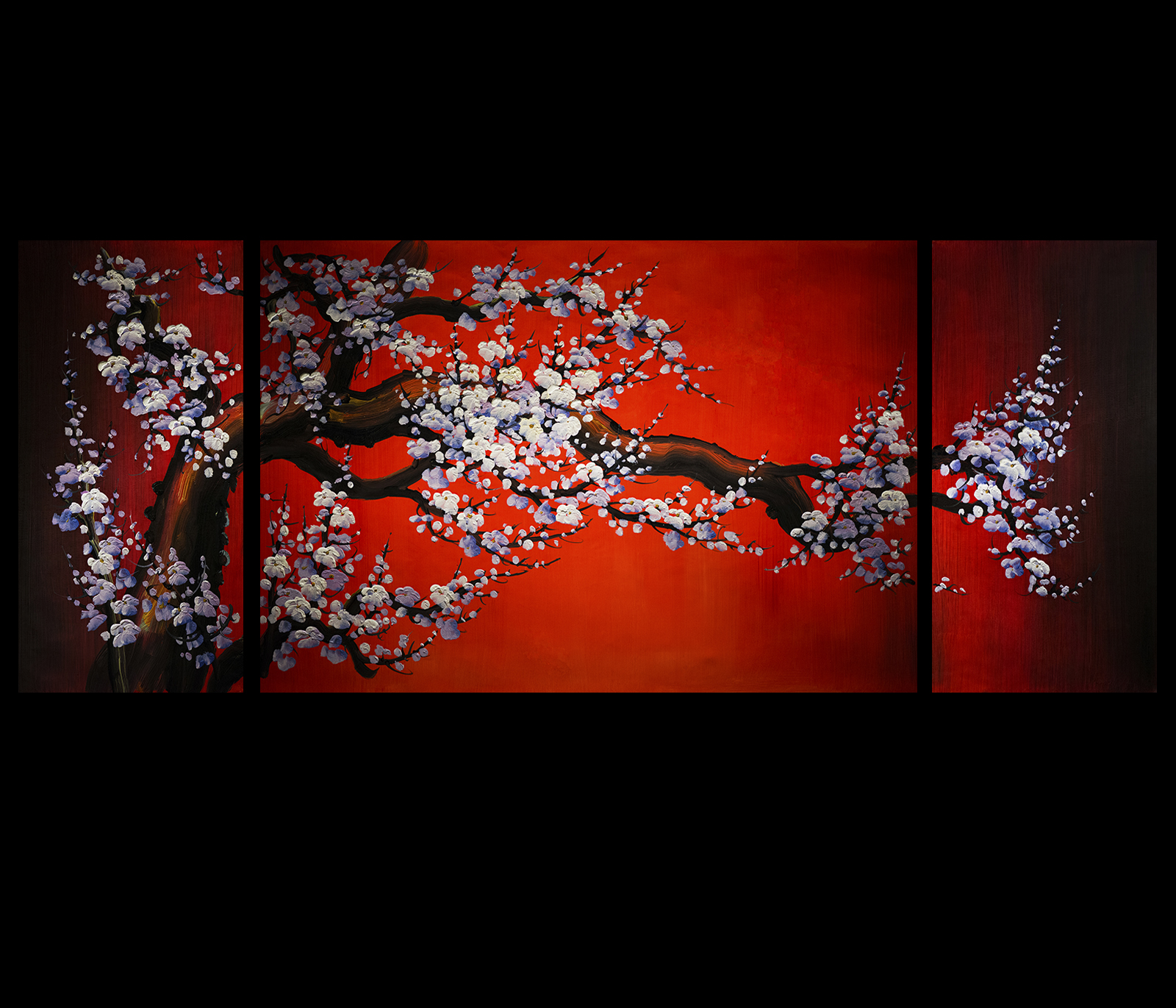 Canvas Wall Art Decor Cherry Blossom Painting Feng Shui Painting