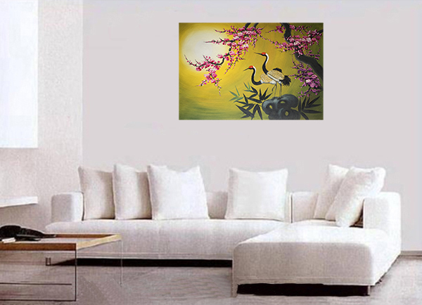 Asian Painting, Asian wall art, crane Painting