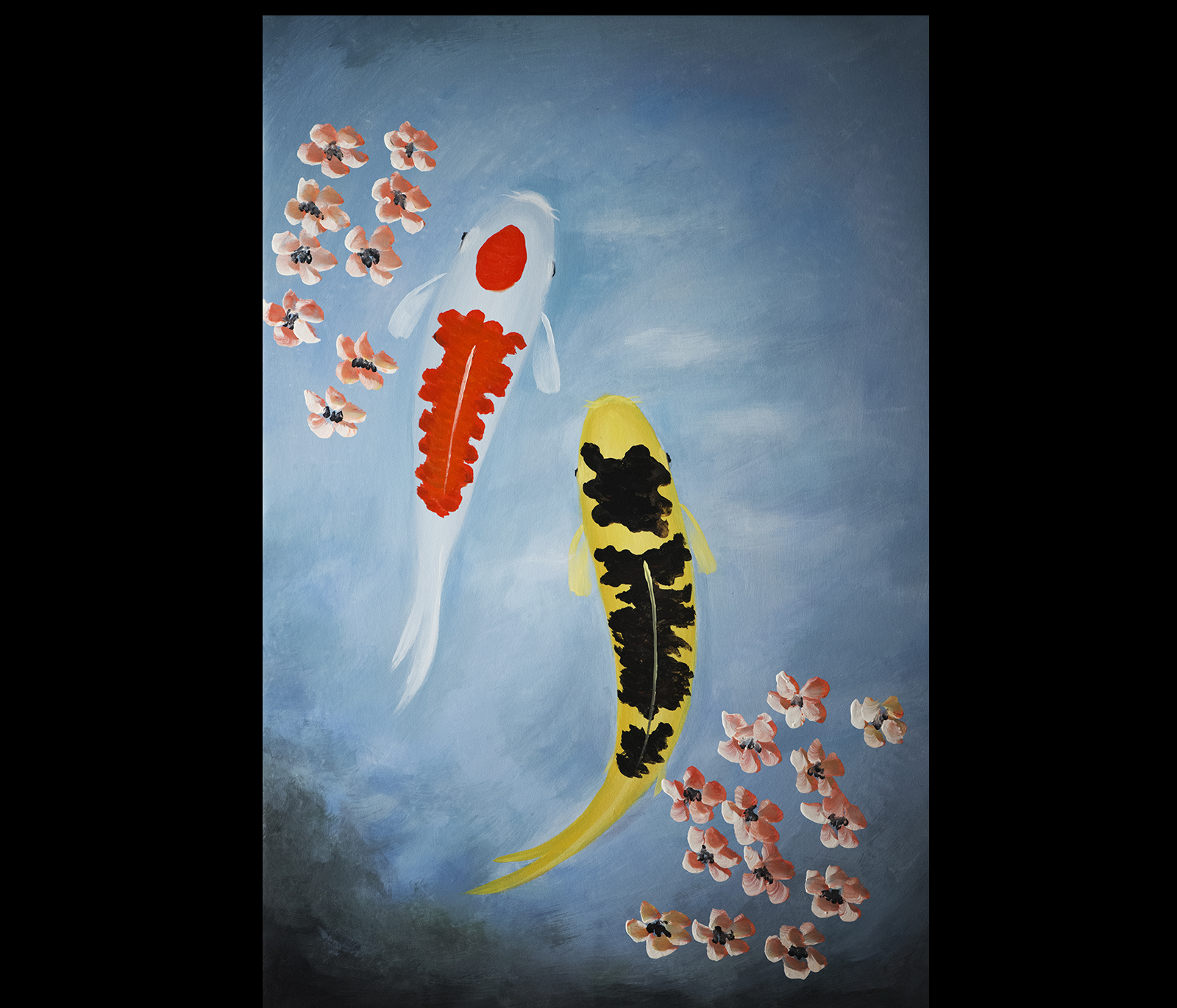 Japanese koi fish wall art for Koi carp wall art