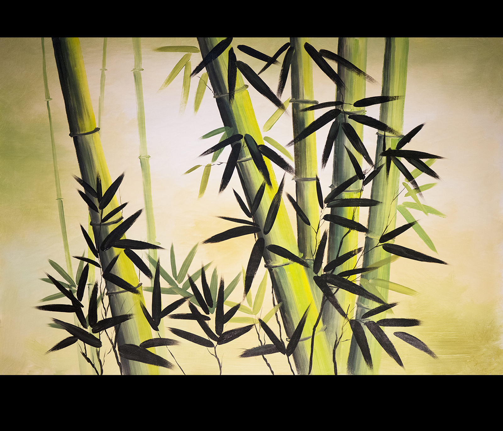 Chinese bamboo painting chinese bamboo paintings for Bamboo wall art