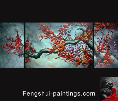 Japanese cherry blossom painting for Cherry blossom mural works