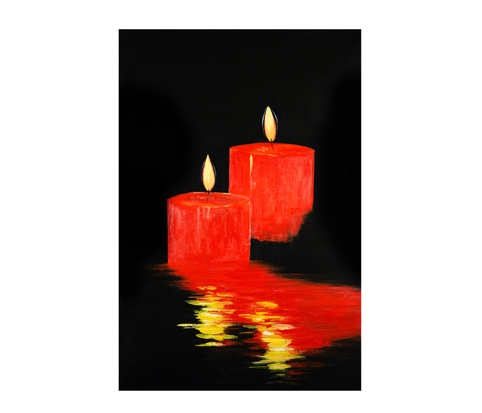 abstract romantic candles feng shui bedroom painting ebay. Black Bedroom Furniture Sets. Home Design Ideas