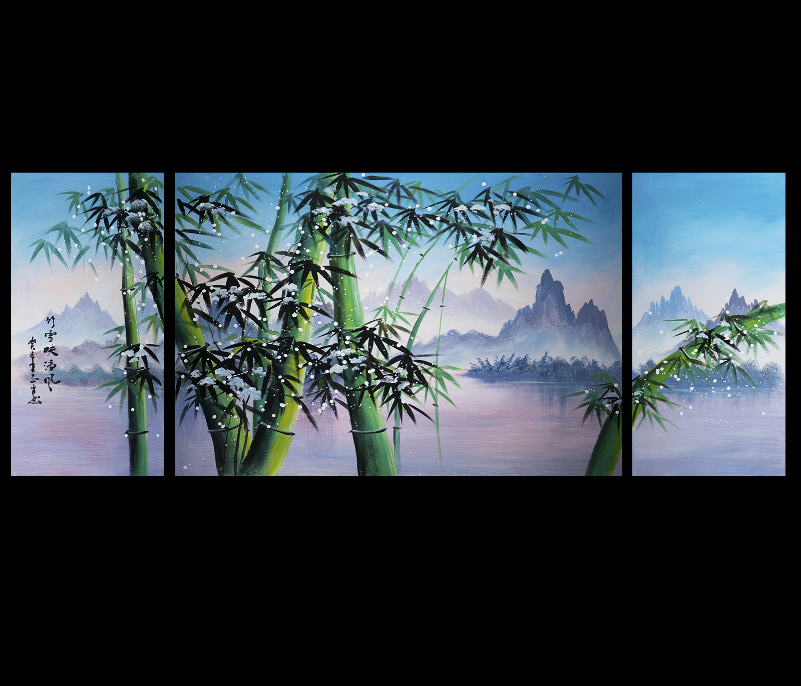 Giclee artwork canvas art contemporary art asian bamboo for Asian wall art