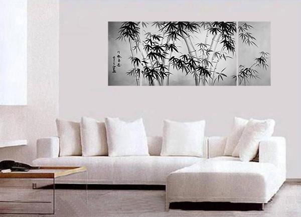 Bamboo Painting Canvas Art Asian Bamboo Art Modern Wall