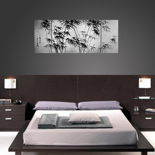 New Design Wall Art : Bamboo painting canvas art asian modern wall
