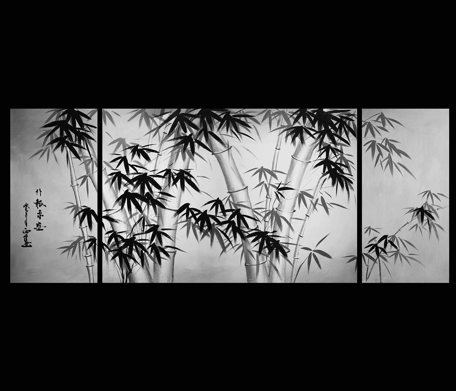 Bamboo Wall Art painting canvas art asian bamboo art modern wall art decor