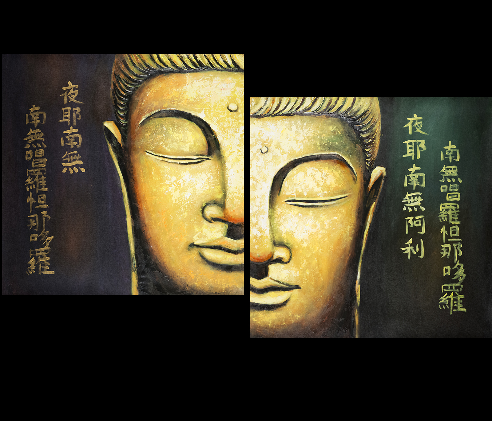 Buddha feng shui painting modern wall art framed for Modern feng shui