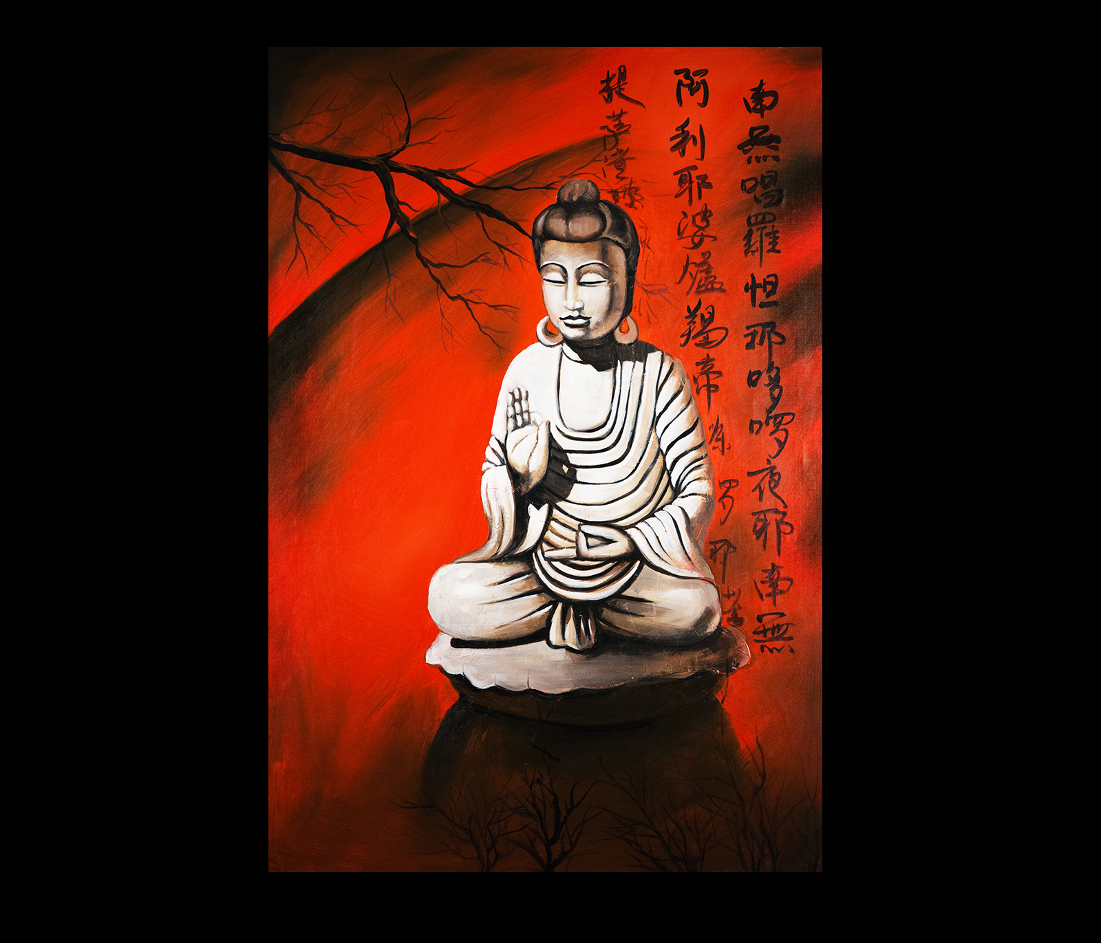 buddha paintings on canvas