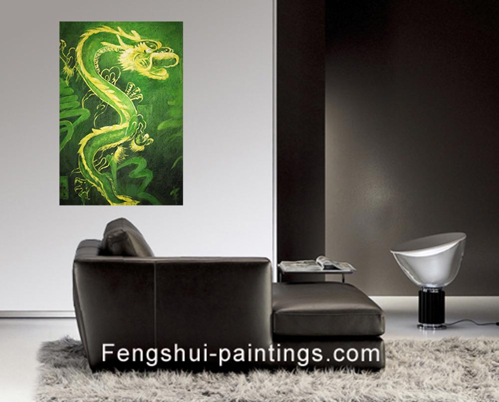 Feng Shui Wall Art shui dragon painting modern wall art decor