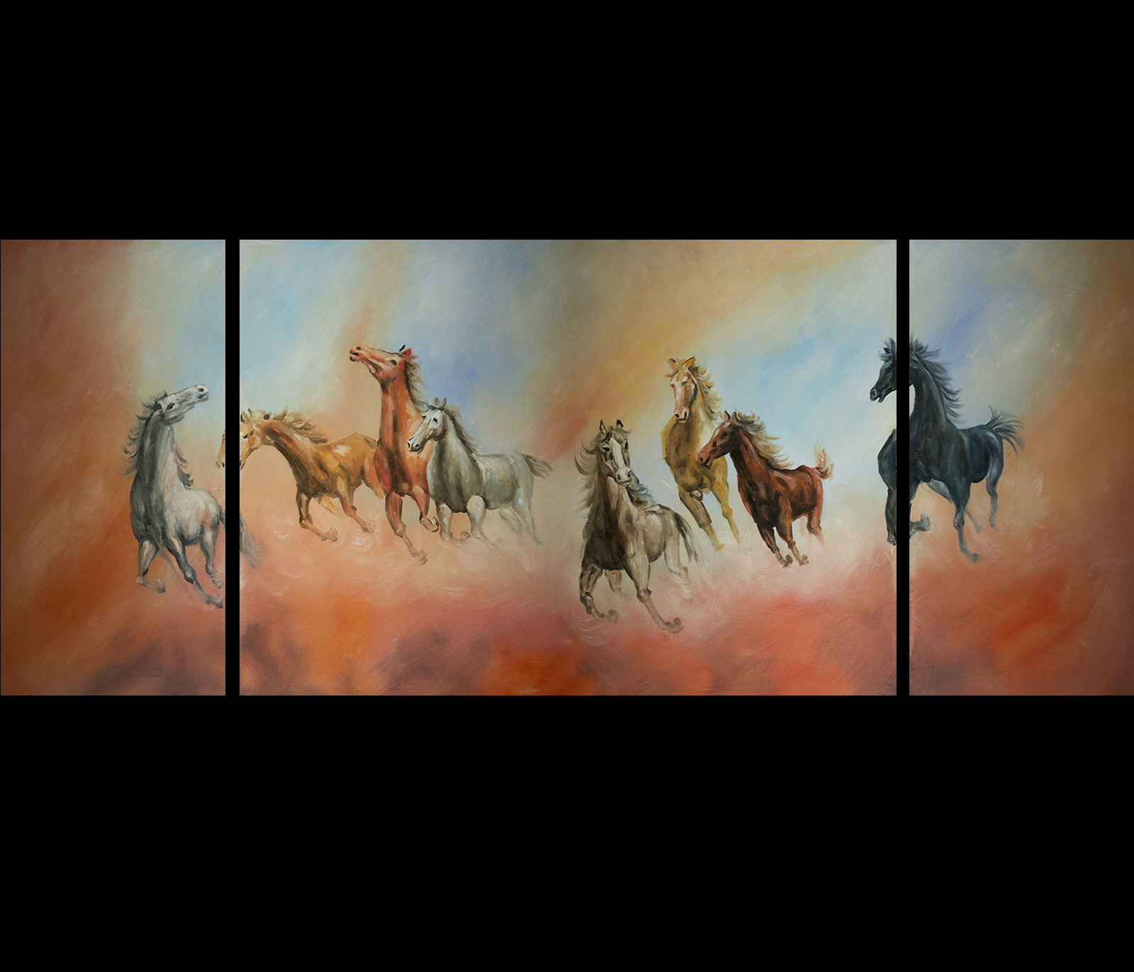 Feng Shui Art For Office For Horse Artwork Canvas Prints Contemporary Art Modern Wall Dcor
