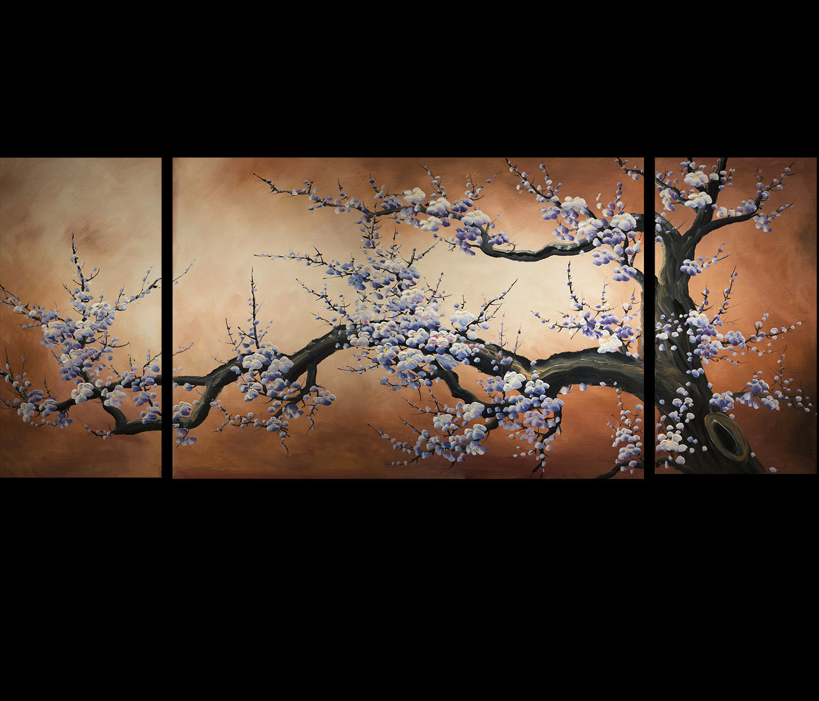 Japanese art prints canvas the image for Cherry blossom mural works