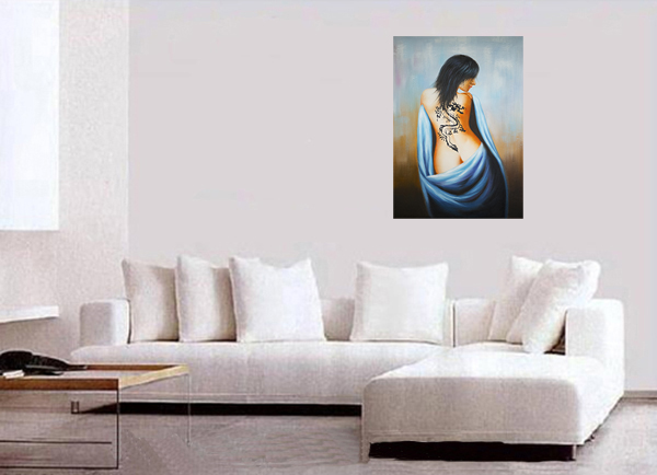 Canvas Wall Art Paintings Framed Abstract Painting Nude Painting
