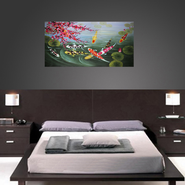 Wall Art Painting Stretched Canvas Print Koi Fish Wall Art