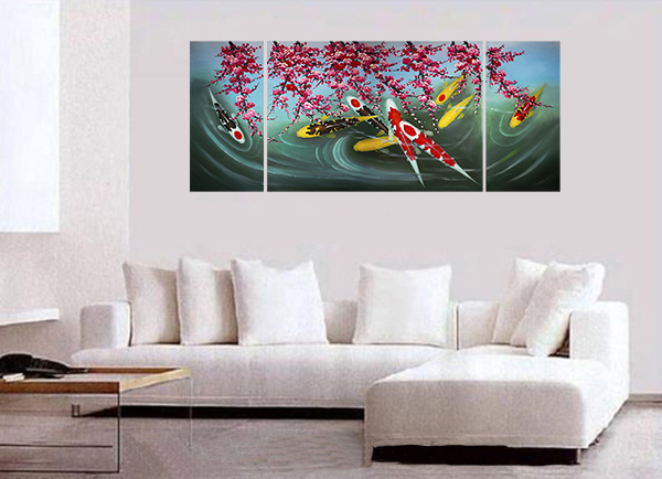 Koi Fish Wall Art Contemporary Art Modern Wall Art Décor Giclee Prints