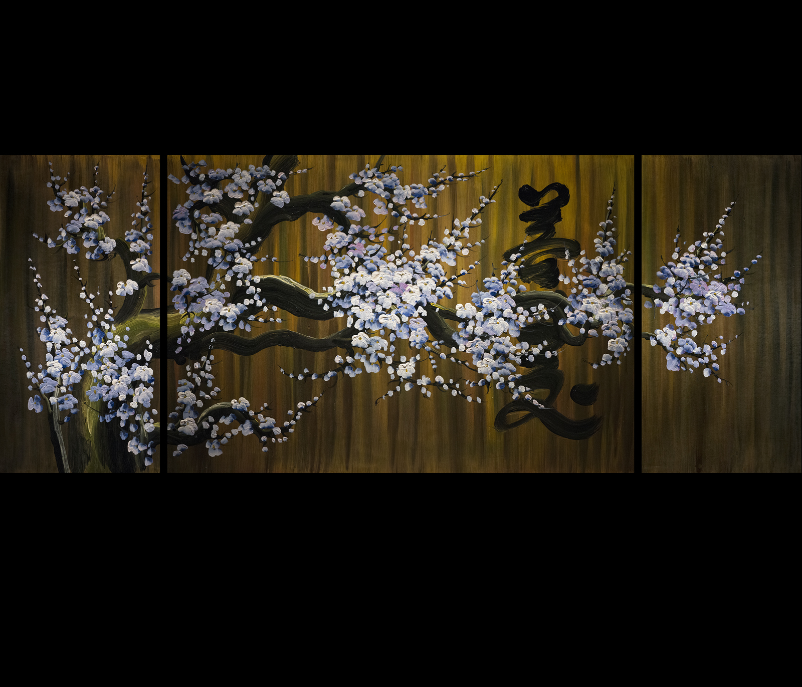 abstract art framed canvas prints contemporary art cherry blossom
