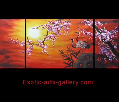 Orange Abstract Art Oil Paintings