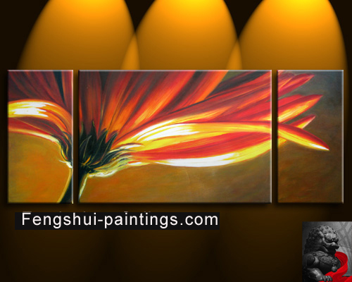 Feng Shui flower oil Painting