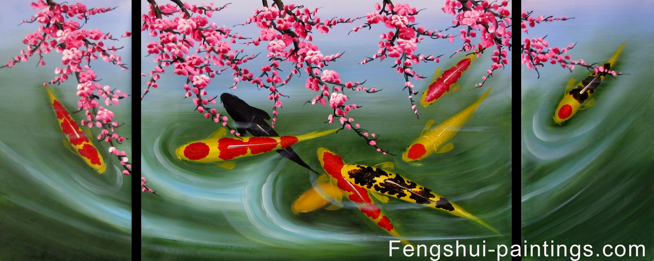 Koi Painting, Koi Fish Painting, Feng Shui Fish Painting