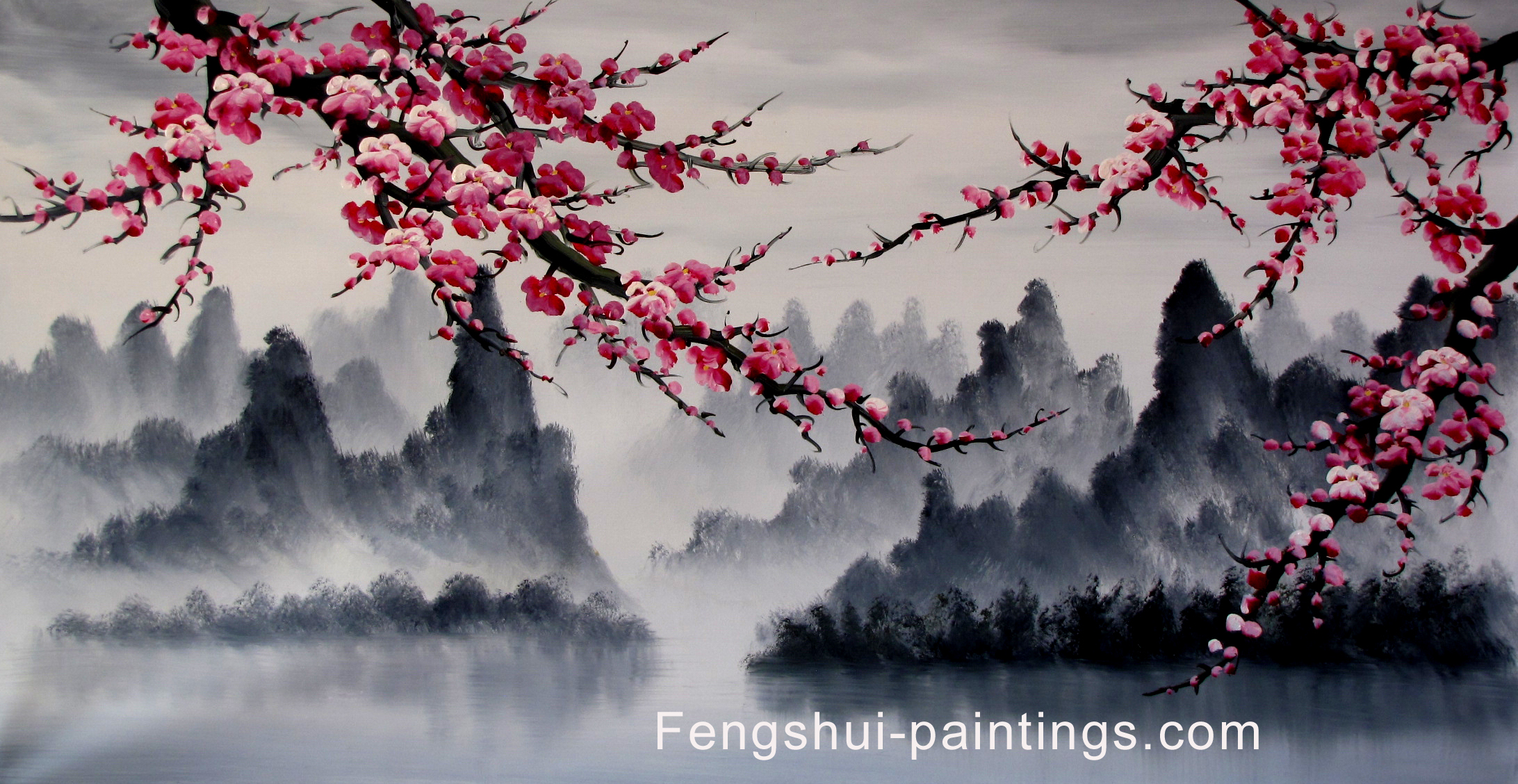 Japanese Art Cherry Blossom Painting