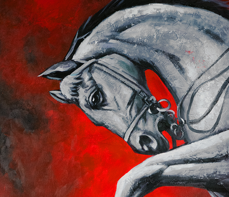 Feng Shui Painting, Horse Painting, Chinese Horse Painting